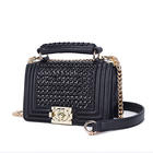Angedanlia china manufacturer top french designer girls stylish handbags PU woven square bag