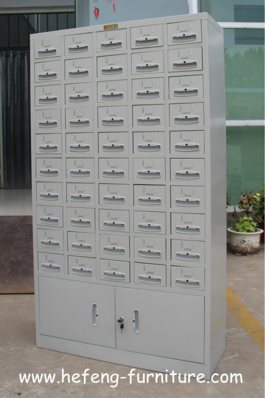 Metal Index Card Cabinet