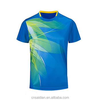 226008f70 Fashion new table tennis jersey custom sublimation brand logo breathable badminton  t-shirt