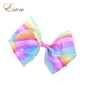 Pastel Stripe Star Boutique Gradient Rainbow Hair Bow JOJO Bow