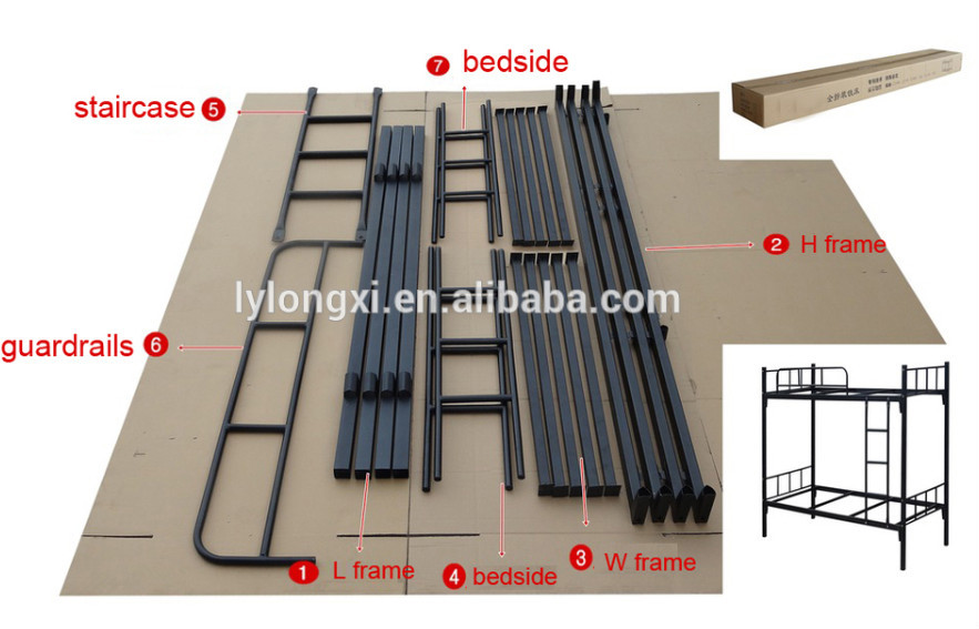 iron pipe double bunk bed Bunk Beds for Refugee Factory price bunk beds