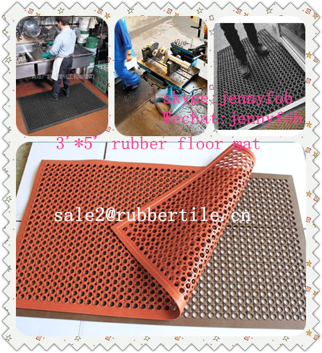 commercial rubber waterproof backed kitchen floor mats/front door