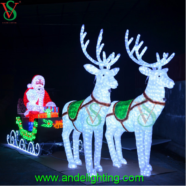 List manufacturers of large outdoor christmas reindeer light buy 24v large outdoor christmas light with santa and reindeer aloadofball Image collections