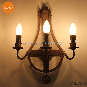 New design american style wood wall sconce 3 lights antique rustic new design american style wood wall sconce 3 lights antique rustic iron wall lamp in mozeypictures Images