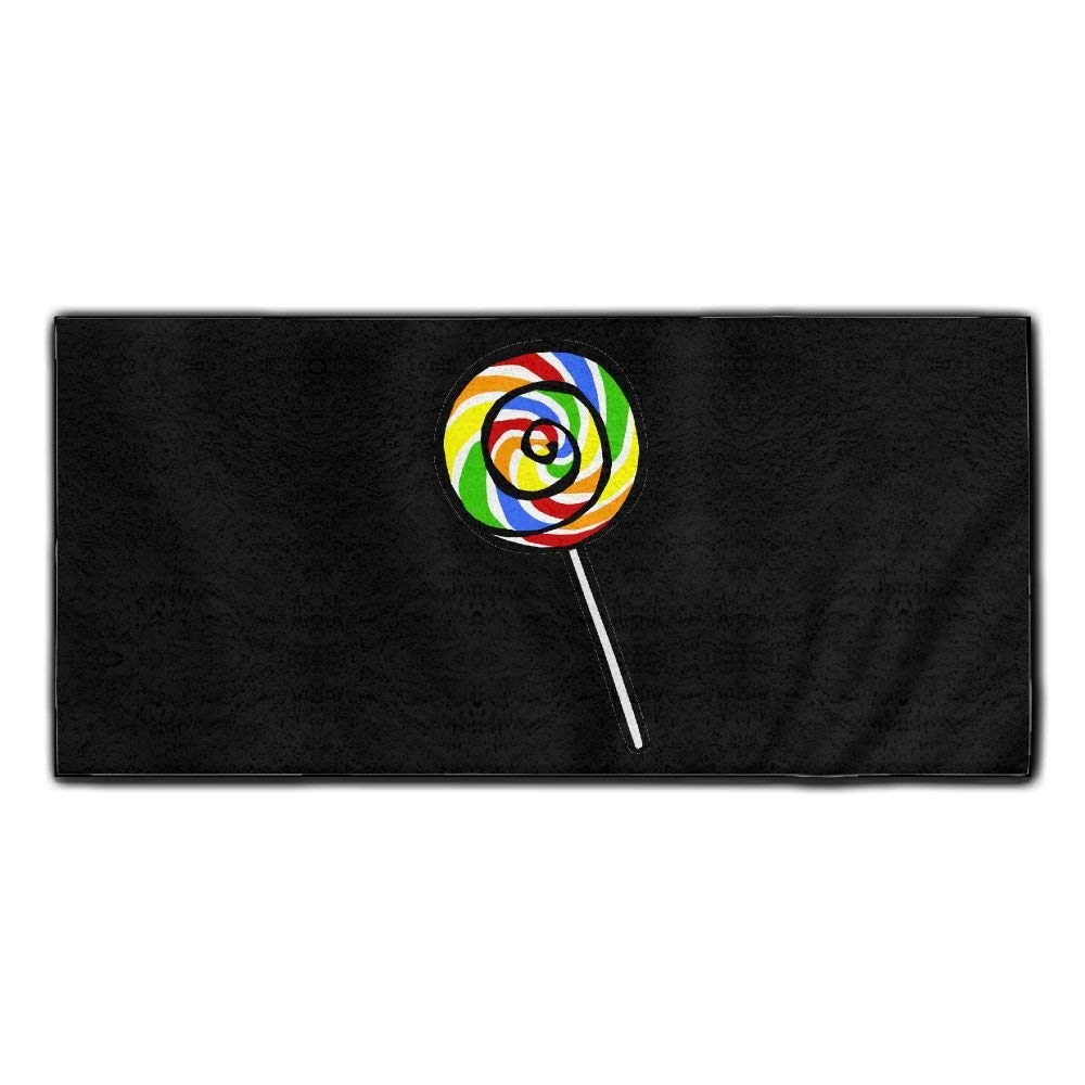 Baerg Microfiber Super Absorbent Face Towel Colorful Lollipop Hair Care Towel Gym And Spa Towel