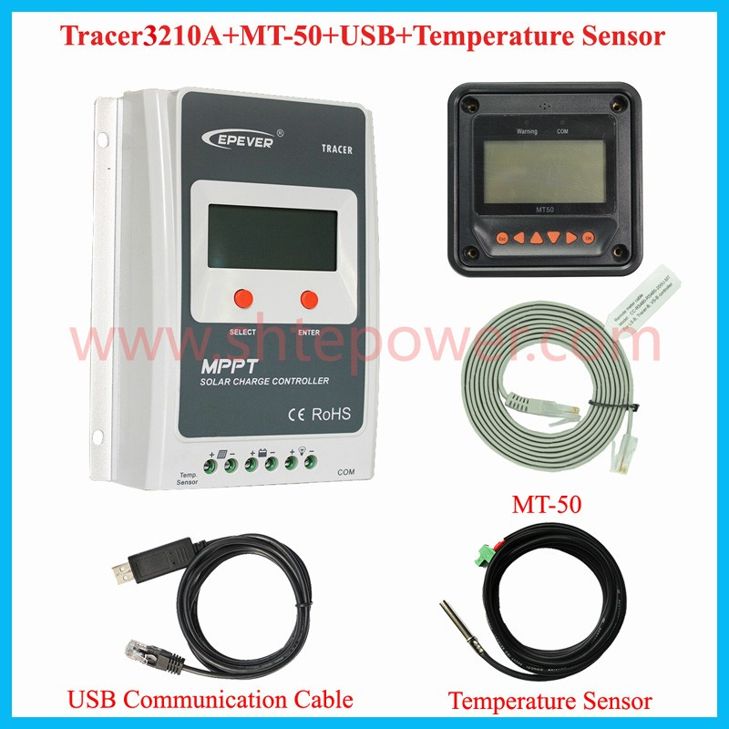 NEW type 24V 12v rohs mppt solar charge charge controller 30A Tracer3210A