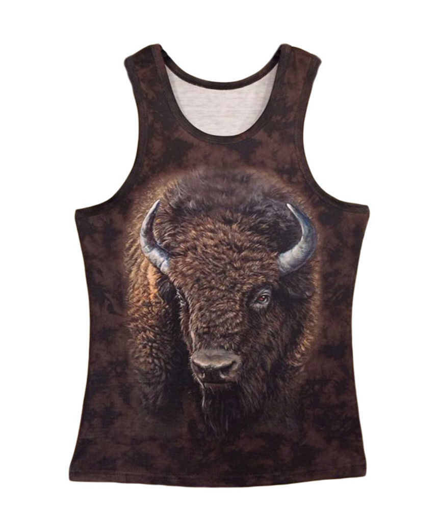 Professional for Men Women Cattle Vest Hip Hop Unisex 3D Animal Big Face Tank Top Custom Muscle Sleeveless Tank T Shirt