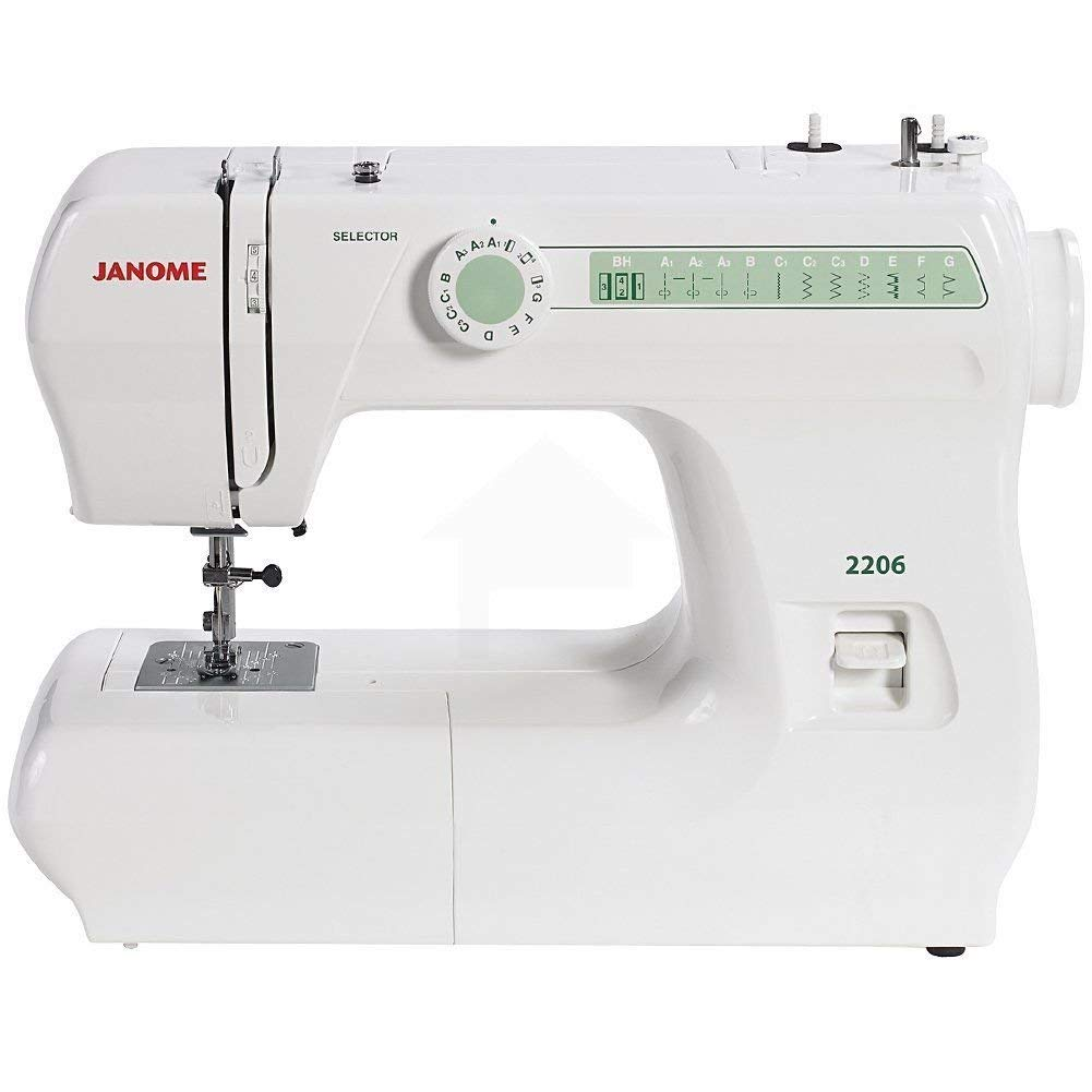 Get Quotations · Janome 2206 6-Stitch Full Size Freearm Sewing Machine  W/Free Bobbins & Needles