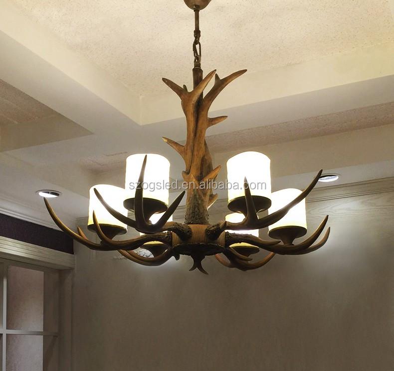 Hotellobby moderne hout antler kroonluchter houten gewei for Lamp gewei
