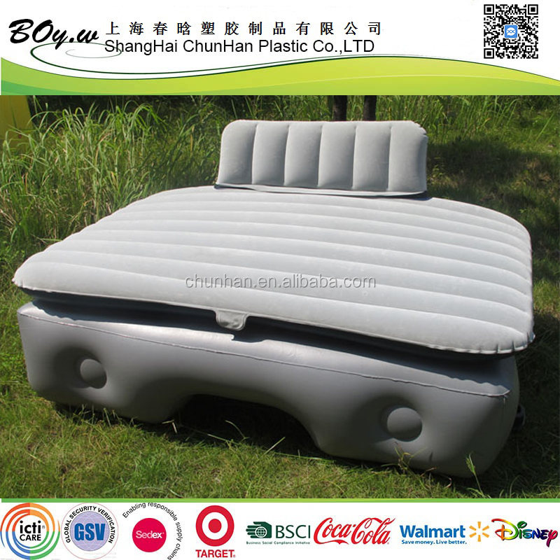 fashion factory back seat extended flocking inflatable can travel mattress