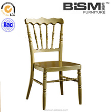 Bamboo Wedding Banquet Chair Aluminum napoleon chair with fixed cushion