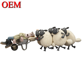 Custom Cute Cartoon Shaun Characters Sheep Figure