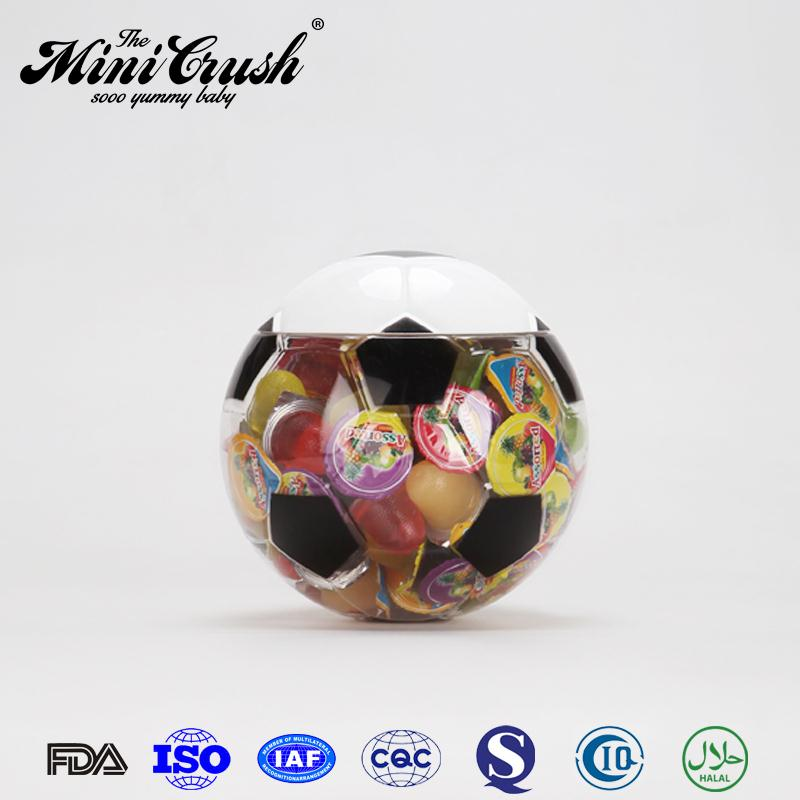 Mini fruits gels, Gelée de fruits piqûres, Football en forme Container