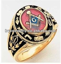 China popular designed brass masonic signet ring for men