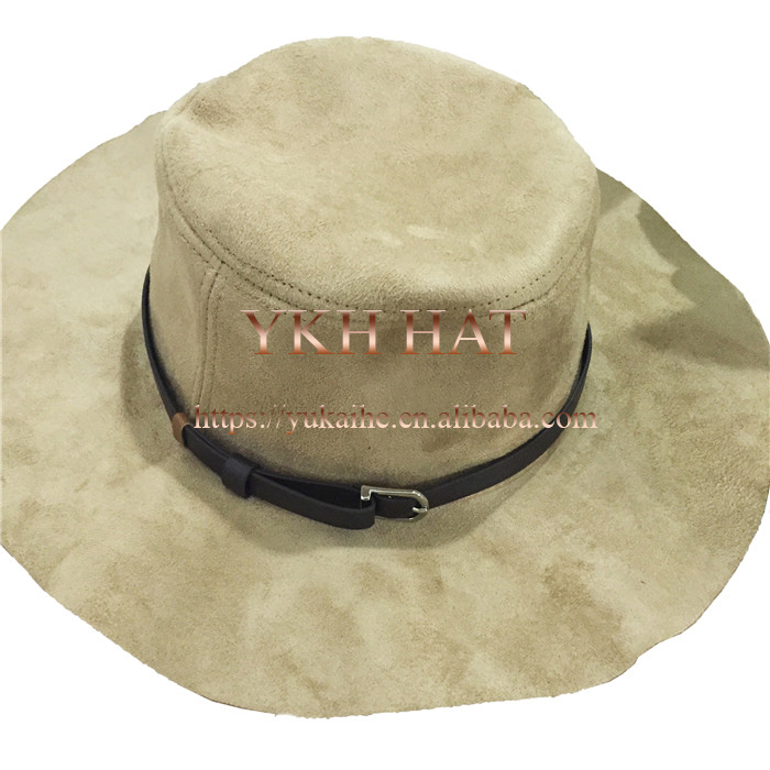 Camel different fashion types of warm suede leather hat and cap
