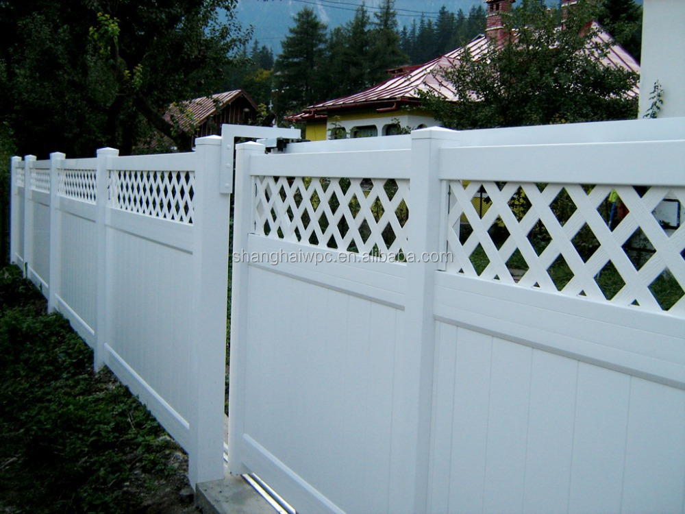 Pvc gardening house fence vinyl privacy fencing plastic - Vallas jardin pvc ...
