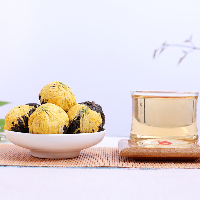King Chrysanthemum puer tea balls wholesale blooming tea glass teapots - 4uTea | 4uTea.com