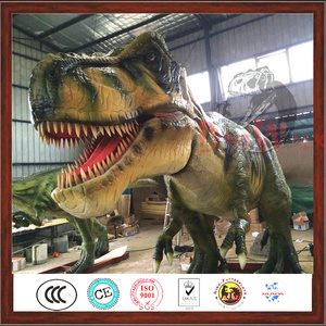 Outdoor Play Equipment Large T rex Life Size Dinosaur Statues for Sale