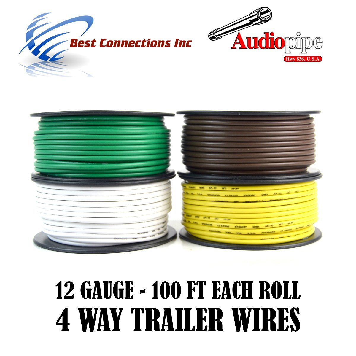 Cheap Trailer Brake Wire Gauge Find Deals Car Wiring Harness Get Quotations Light Cable For 4 Way Cord 12 100ft Roll