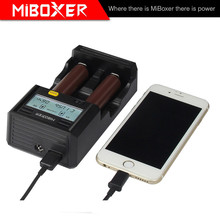 Miboxer C2-6000 Battery Charger Double AA Battery USB Phone Charger with 12 volt Battery Charger Adapter
