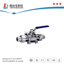 Various sizes stainless steel ball check and ball valve for sale