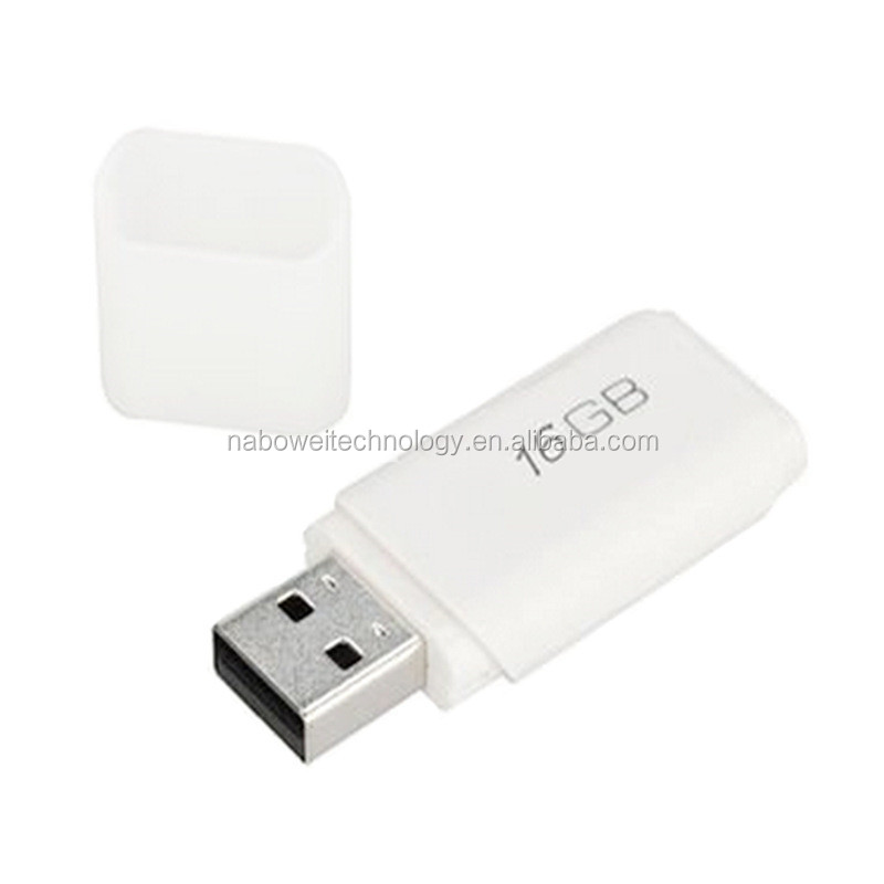 Custom logo 1GB 2GB 4GB 8GB 16GB 32GB 64GB Chip White USB 3.0 Memory Stick Flash Drive in Rectangle Shape