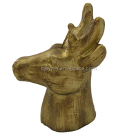 wholesale Party supply christmas art animal golden paraffin wax reindeer deer horn candle for chritmas