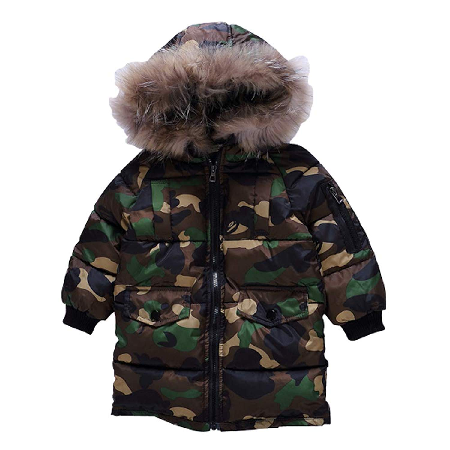 1c1555300 Cheap Camouflage Fur Coat