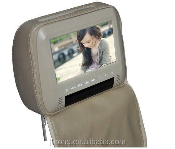 7 inch car back seat headrest monitor with MP5 USB SD
