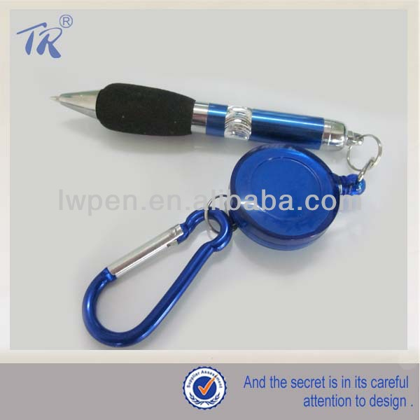 Promotional Bubble Grip Mini Plastic Carabiner Pen