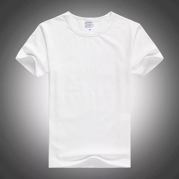 wholesale custom 50/50 polyester cotton t shirt all over print t-shirt with customized logo
