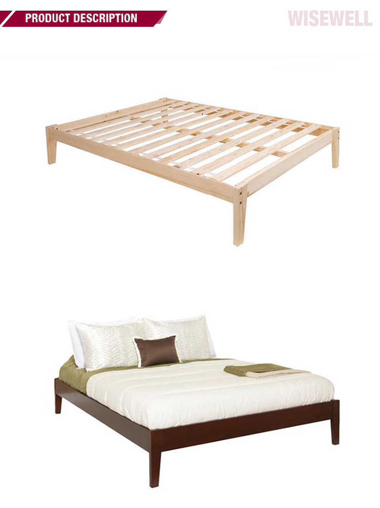Solid Pine Simple In King With Slats Bed Frame Wood Buy