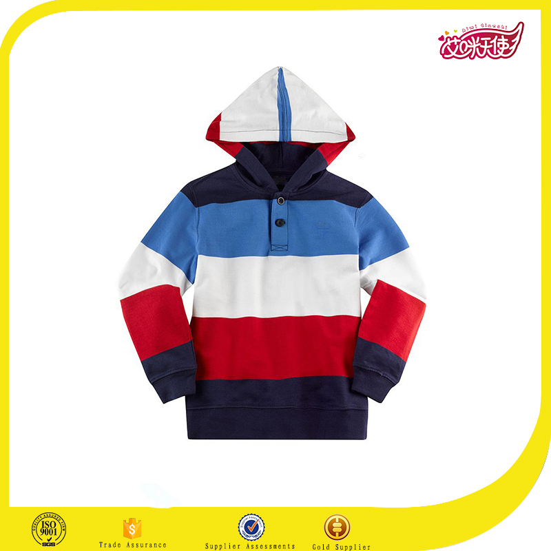 2016 children clothing coats fleece kids contrast color high quality sweatshirt hoodies