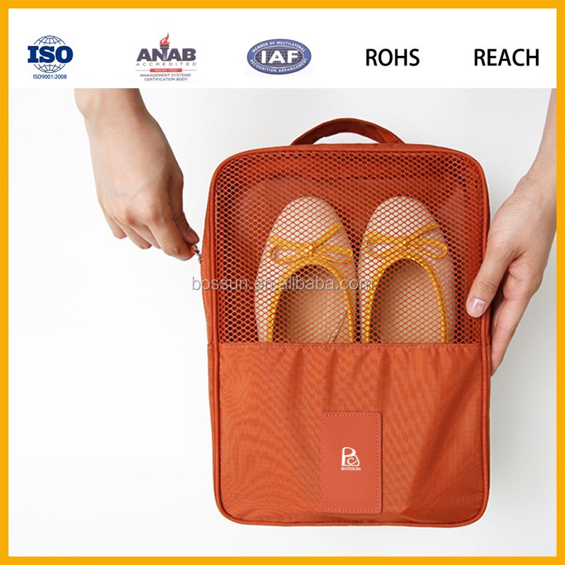 2017 High Quality Waterproof Target Mesh Bag Foldable Travel Storage Shoes