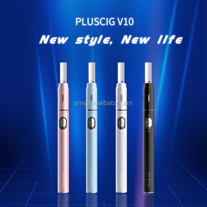 2018 New Pluscig V10 Heating Not Burn vape device kc 18650 i.. e cigarette