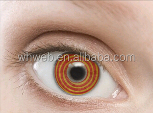 charming color contact lenses red and yellow loops cheap crazy contact lenses