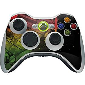 Music Xbox 360 Wireless Controller Skin - Rasta Color Keys Vinyl Decal Skin For Your Xbox 360 Wireless Controller