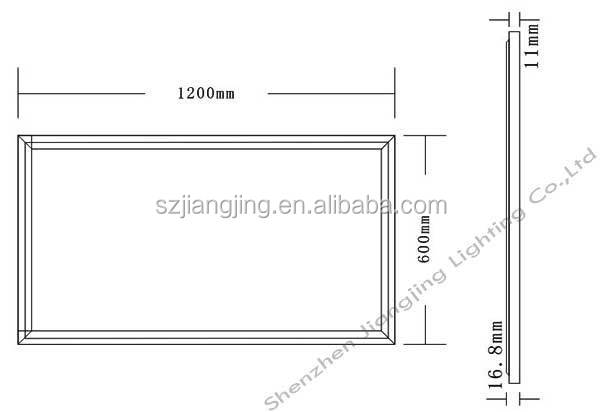 80w 72w 1200x600 Ceiling Led Panel Light Replace 4x36w T8 ...