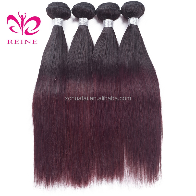 Cheap Virgin Hair From China Accept Paypal Beauty Straight Ombre Color Human Hair Weft