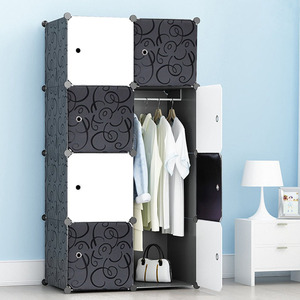 modern home collapsible storage plastic wardrobe