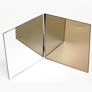 Customize size Acrylic transparent black rose gold acrylic mirror sheet
