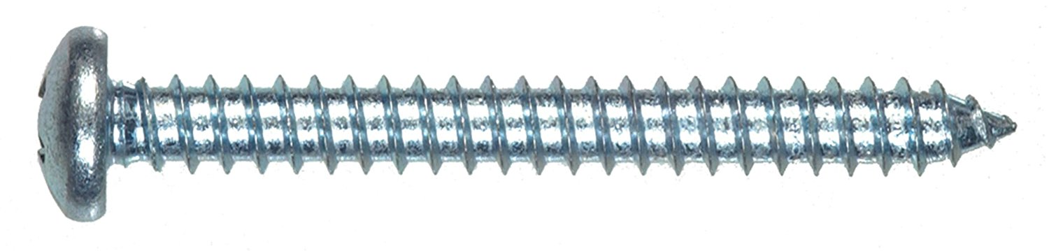 The Hillman Group 80075 10-Inch x 1-1/4-Inch Pan Head Phillips Sheet Metal Screw, 100-Pack
