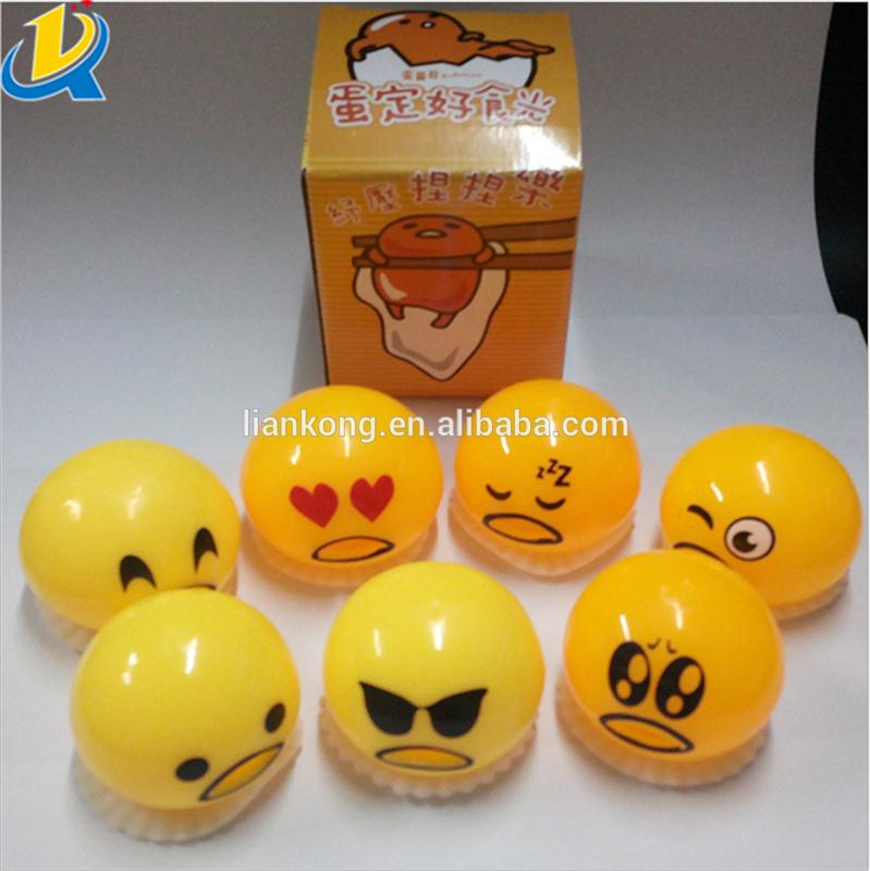 Hot selling soft squishy yolk squeez gudetama lazy egg ball