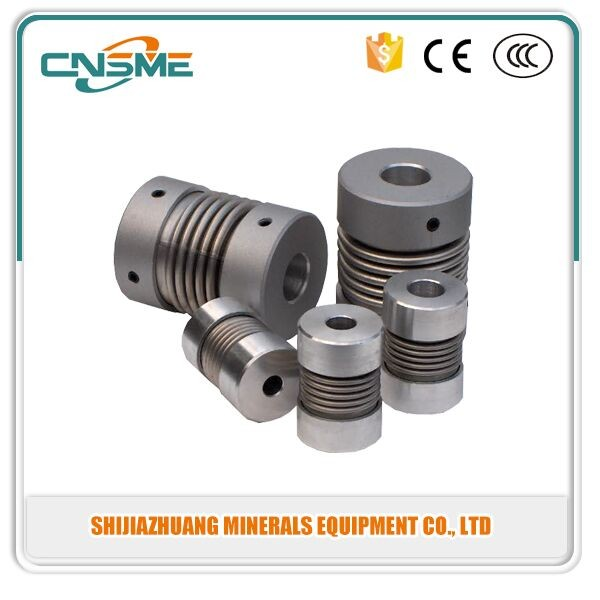 Metal bellows coupling for cnc machine