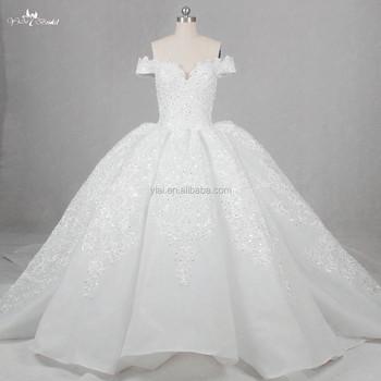 Rsw1142 Luxury Arab Muslim Ladies Lace Bridal Ball Gown Wedding ...