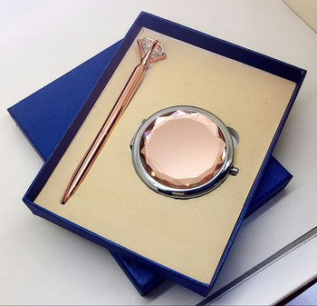 GT203 crystal makeup mirror&crystal metal ball pe 2016 New products wedding gift
