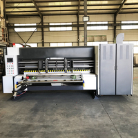 Automatic rotary die cutting 1/2/3 color printing machine for special shaped carton box