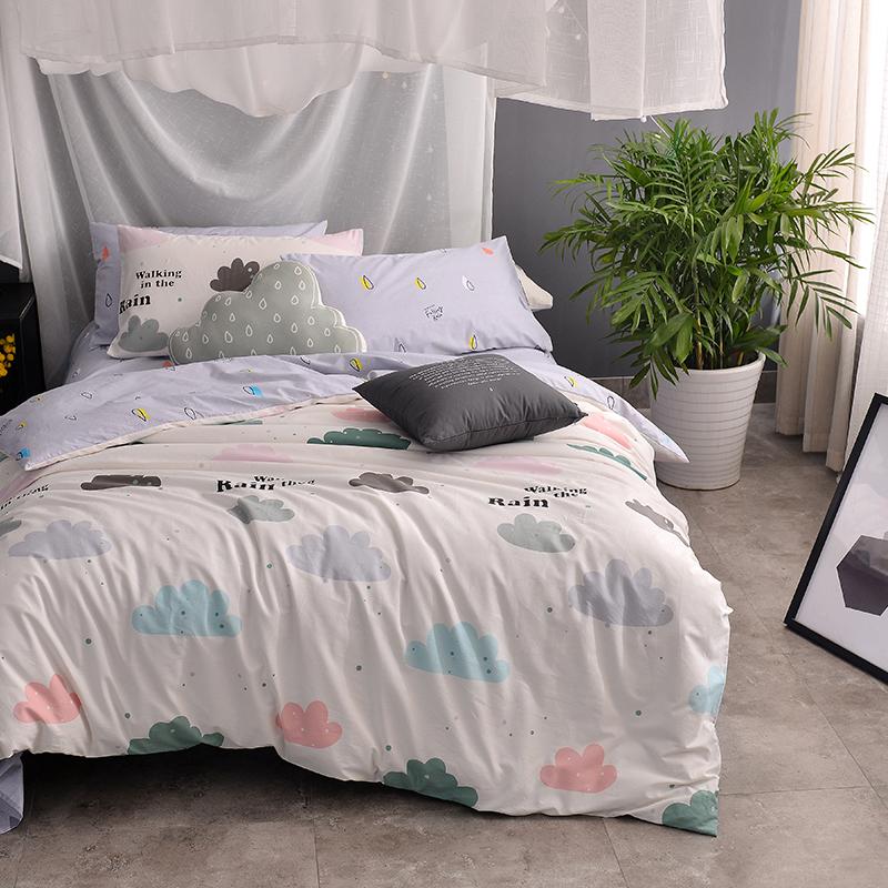 100 Cotton Kids Girls Cute Bedding Set Single Double King