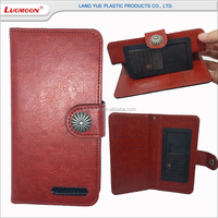retro universal wallet style smart phone leather case