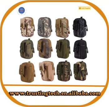 Hot selling Universal Outdoor Sports Military Molle Waist Belt Bag Wallet Pouch Purse Phone bag